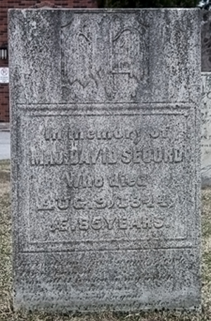 Major David Secord's headstone